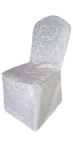 White floral chair cover